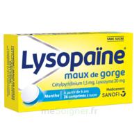 LysopaÏne Comprimés à Sucer Maux De Gorge Sans Sucre 2t/18 à Chalon-sur-Saône