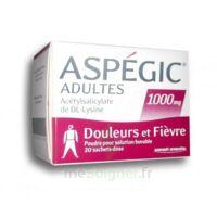 Aspegic Adultes 1000 Mg, Poudre Pour Solution Buvable En Sachet-dose 20 à Chalon-sur-Saône