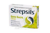 Strepsils Citron Sans Sucre, Pastille édulcorée à L'isomalt, Au Maltitol Et à La Saccharine Sodique à Chalon-sur-Saône