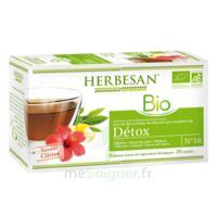 Herbesan Infusion Bio Tisane Détox 20 Sachets à Chalon-sur-Saône