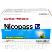 Nicopass 1,5 Mg Pastille Sans Sucre Menthe Fraîcheur Plq/96 à Chalon-sur-Saône