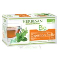 Herbesan Infusion Bio Tisane Digestion Facile 20 Sachets à Chalon-sur-Saône
