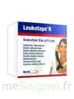 Leukotape K Sparadrap Noir 5cmx5m à Chalon-sur-Saône