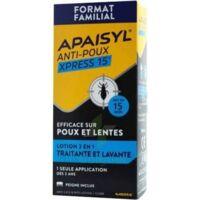 Apaisyl Anti-poux Xpress 15' Lotion Antipoux Et Lente 200ml+peigne à Chalon-sur-Saône