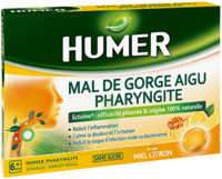 Humer Pharyngite Pastille Mal De Gorge Miel Citron B/20 à Chalon-sur-Saône